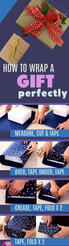 With Christmas right around the corner this gift wrapping tutorial will come in handy.  Learn how to perfectly wrap presents with the video and picture tutorial.