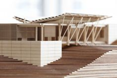 fabriciomora:  Herbst Architects  – Details | Model making | Look at how all of the materials connect. Think about how each piece had to be cut and fit into another.