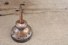 Vintage Oiler Can. FREE SHIPPING by theboneyardbuffalo on Etsy