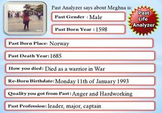 Check my results of Past Life Analyzer Facebook Fun App by clicking Visit Site button