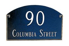 Georgetown House Number Sign