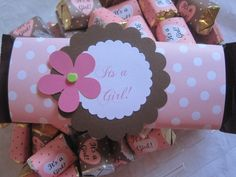 Embellish candy bars as favors