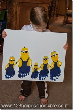 Minion Family Art Project
