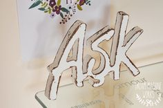 Aşk is Love hand painted wooden words. wooden letters www.dreammachineworks.com