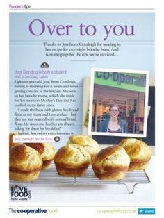 Brioche buns - The Co-operative Food Magazine September/October 2013 October 2013, I Love Food, Buns, Toast, Magazine, Breakfast, Brioche, Morning Coffee, Magazines