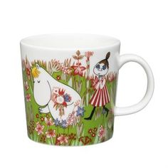Moomin Summer Mug 2016 - Midsummer from Arabia by Tove Jansson, Tove Slotte Moomin Mugs, Tove Jansson, Outdoor Planters, Different Flowers, Marimekko, Scandinavian Design, Coffee Cups, Ceramics, Shopping