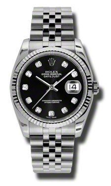 Rolex | Review Rolex Datejust Black Dial Automatic Stainless Steel Watch 116234BKDJ By Rolex