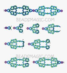 Free pattern for necklace Black Star | Beads Magic
