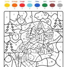 Coloriage Code Hiver Maternelle.21 Meilleures Images Du Tableau Coloriage Magique Gs Paint By