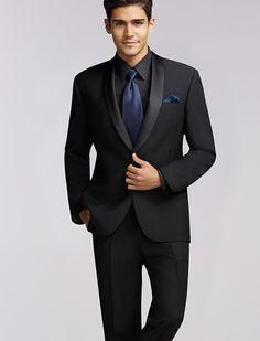Calvin Klein One-Button Super 100s Peak Lapel. Men's Warehouse