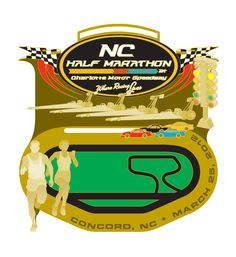 NC half marathon March 25th.  I usually don't let medals suck me in but this one has moving cars and LED lights, and part of the race is on Charlotte Motor Speedway.