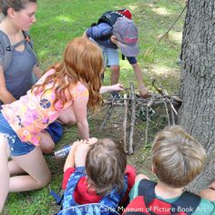 Group Nature installation/ Class at The Eric Carle Museum
