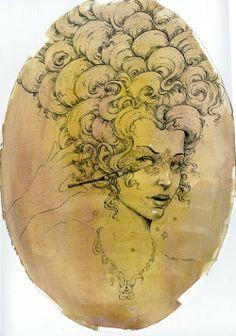 Portrait of Stoya by Molly Crabapple