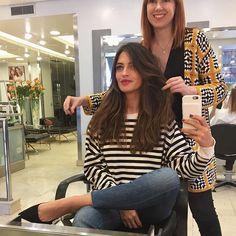 Definitivamente mi pelo necesitaba las manos de María @saloncheska. ¡Gracias por el buen rato! #10cmmenos #yahemosquedadoparacortarelflequillo #alapróxima #Madrid #personasbonitas