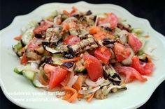 Izgara Patlıcanlı Salata Tarifi