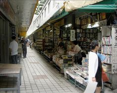The book alleys in Busan Bosu-dong is a reader's paradise.