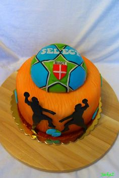 cake themed handball - torta s hádzanárskou tématikou