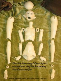 Ball Jointed Doll Tutorial | The New Clay News: Ball-Jointed Doll (BJD), Step by Step