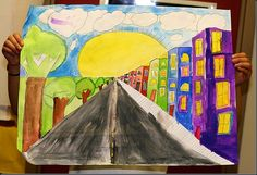 One point perspective art