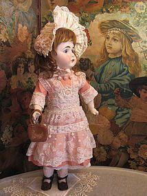 """Lovely 22"""" German Sonneberg doll Circa 1880's_ http://www.dollshopsunited.com/stores/GirlwithDoll/items/1287462/Lovely-22-German-Sonneberg-doll-Circa-1880s #dollshopsunited"""