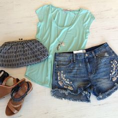 Free people shorts, caplyso's fave tee.  shop spring at obligato!