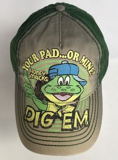 56b06581ead Kelloggs Dig Em Snap Back Hat Sugar Smacks Cereal My Pad Or Yours Green  Frog
