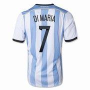 La camiseta de Angel Di Maria, un jugador en equipo de Argentina.