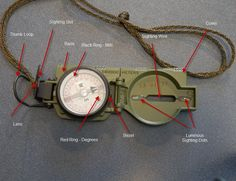 Fundamentals of Orienteering – Parts of the Lensatic Compass
