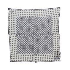 Corneliani linen polka dots printed pocket square