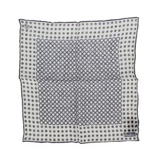 Corneliani linen polka dots printed pocket square