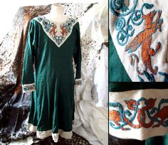 Lion and Griffins embroidery ~ Norman tunic by ~Tournevent on deviantART