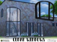 The Sims Resource: Cedar Windows Construction by mutske • Sims 4 Downloads