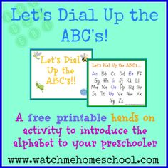 How to Introduce the Alphabet to Preschoolers {Free Printable!}