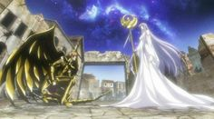 Saint Seiya - The Lost Canvas - Sagittarius Sisyphe & Athena Anime Manga, Anime Art, Familia Anime, The Big Four, Touken Ranbu, All Saints, Animes Wallpapers, Deviantart, Anime Couples