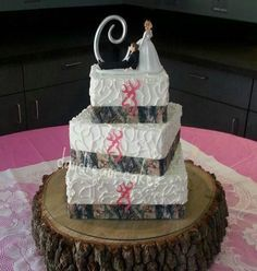 A very country wedding cake. :)  Chay & Cal<3 & its even the right letter