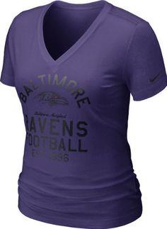 Women s Nike Baltimore Ravens V-Neck Tee at End Zone Apparel ca7dbae17