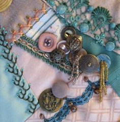 Introducing block 49 on the I Dropped the Button Box crazy quilt - Pintangle