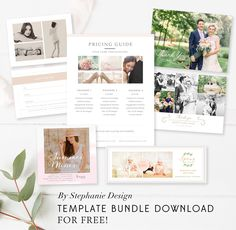 5 Essential Freebies for Your Photography Business - FREE Photography Marketing Bundle - By Stephanie Design