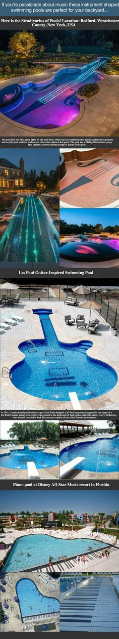 Amazing Swimming Pools Shaped Like Musical Instruments