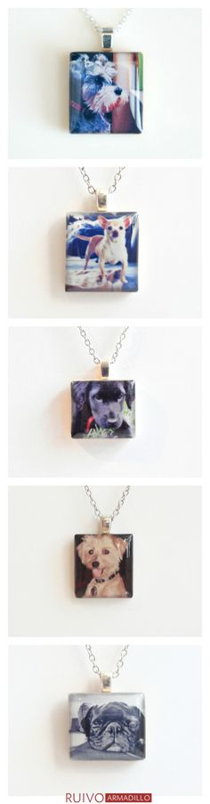 Pet memorial jewelry handcrafted with your favorite photo to help grieving pet owners feel connected to and celebrate the memory of their beloved pet.  Click the photo to begin the process.