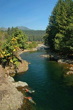 The Wilson river in Tillamook Oregon