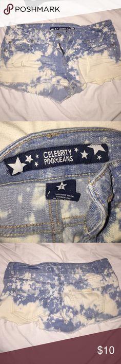 Denim Shorts In good condition. Runs small, like a small/medium. Celebrity Pink Shorts Jean Shorts