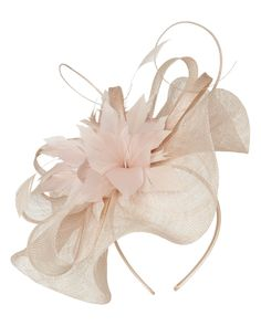 New In: Clothing   Yellow Althea Fascinator   Phase Eight > A structured woven fascinator with flattering wave front shape. Detailed with woven bows and feathering and set on a satin headband with open end styling.
