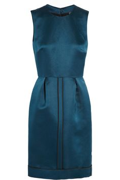 Fendi - Blue Duchesse silk Dress