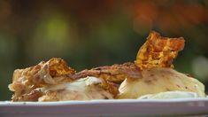 Sajtos, csípős, sült őszibarackok Camembert Cheese, Mashed Potatoes, Garlic, Dairy, Vegetables, Ethnic Recipes, Food, Whipped Potatoes, Smash Potatoes