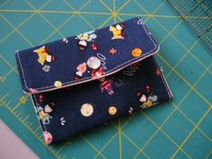mini envelope purse.  Great for a beginner kids sewing project.