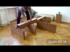 Cardboard Bed Assembly - YouTube