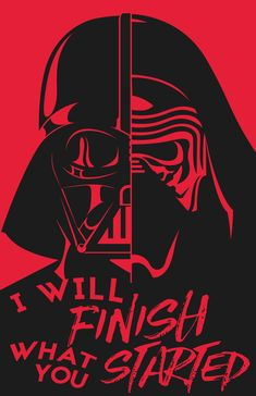 Darth Vader & Kylo Ren Poster by Robbie Thiessen