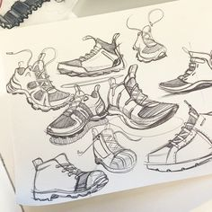 Knocking off the rust with some shoe sketches. #sketchaday #shoes #shoedesign #apparel #lifestyle #sneakerfreaks #design #designsketching #idsketching #sketching #sketch