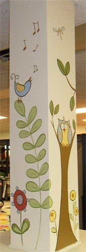 I like the whimsical feel of this design - simple colors too. But no owl.